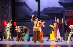 Congratulate friends-The first act of dance drama-Shawan events of the past Stock Photo