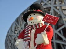 Congratulates the Christmas day. Is also happily joyful Stock Photos