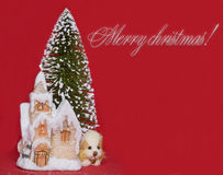 Congratulating on Christmas. Royalty Free Stock Images