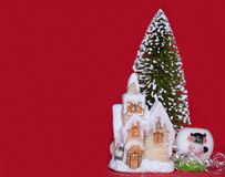 Congratulating on Christmas and New Year Royalty Free Stock Images
