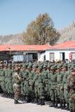 Congratulating graduates of Military Academy Stock Image