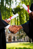 Congratulating with graduation. Stock Photography