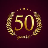 50 years old luxurious logotype. Royalty Free Stock Images
