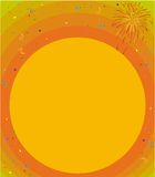 Congratulation. Colourful congratulation card with confetti and fireworks Stock Images