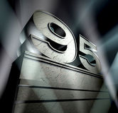 Congratulation 95. Sign of special events like jubilation, birthday, anniversary etc royalty free stock image