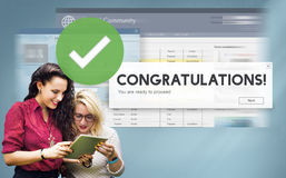 Congratulation Achievement Admiration Victory Concept. Congratulation Achievement Admiration Victory Success Stock Photos
