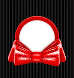 Congratulation background. Congratulation vector background in the form of a circle and a red bow Stock Image