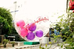 Congratulation balloon. For celebrate your event day Royalty Free Stock Image