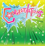 Congratulation boom comic cartoon Royalty Free Stock Photography