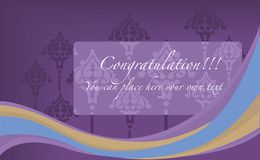 The congratulation card Stock Images