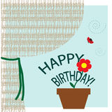 Congratulation card with Birthday Royalty Free Stock Photography