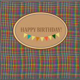 Congratulation card with Birthday Stock Images