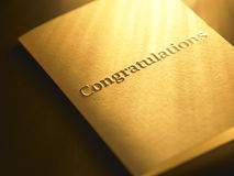 Congratulation card Stock Photography