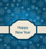 Congratulation Card for Happy New Year Royalty Free Stock Photography