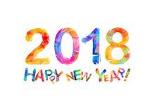 Congratulation card. Happy New Year 2018 Royalty Free Stock Photo