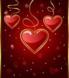 Congratulation card with heart. Illustration congratulation card with heart for Valentine's day - vector Royalty Free Stock Images