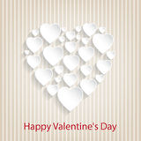 Congratulation card with hearts. Beautiful  background for Valentines Day Royalty Free Stock Photo