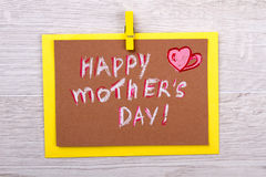 Congratulation card on Mother`s Day. Stock Images
