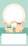 Congratulation card. With a newborn Stock Photos