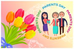 Congratulation Card Dedicated to Parents Day Royalty Free Stock Image