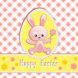 Congratulation card with rabbit. Royalty Free Stock Photography
