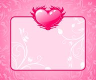 Congratulation card for Valentine's day Stock Photo