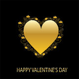 Congratulation card with Valentine's day Royalty Free Stock Photo