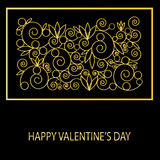 Congratulation card with Valentine's day Stock Images