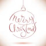 Congratulation in christmas ball Royalty Free Stock Photo