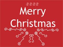 Congratulation with christmas Royalty Free Stock Image