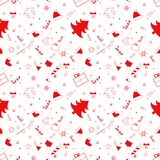 Congratulation with christmas on red background with pattern. royalty free illustration