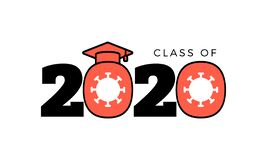 Free Congratulation Class Of 2020, Lettering For Greeting, High School Or College Stock Image - 190414711