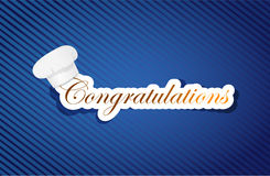 Congratulation cuisine sign Stock Images