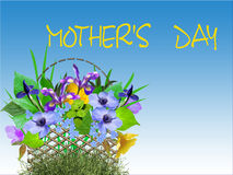 Congratulation on day of mother. A card Royalty Free Stock Photo