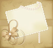 Congratulation gold  retro background Stock Photography
