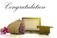 Congratulation for graduate. Royalty Free Stock Photo