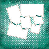Congratulation green card with sheets for design Royalty Free Stock Images