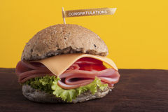 Congratulation Hamburger Stock Photography