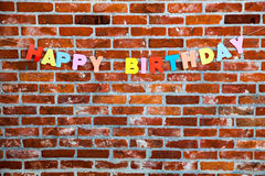 Congratulation Happy Birthday by individual letters Royalty Free Stock Photography