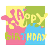Congratulation happy birthday Royalty Free Stock Images