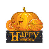 Congratulation with Happy Halloween Royalty Free Stock Photography