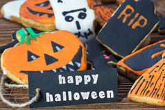 Congratulation happy Halloween Stock Photo