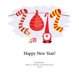 Congratulation happy New Year. And Christmas 2012 Royalty Free Stock Photo