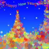 Congratulation happy New Year Royalty Free Stock Photography