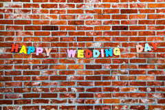 Congratulation Happy Wedding Day by letters Royalty Free Stock Images