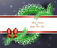 Congratulation on the holiday of Christmas and new year royalty free illustration