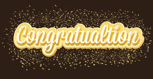 Congratulation  illustration banner design. Golden Congratulation  card Design Royalty Free Stock Photography