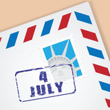 Congratulation Letter of Independence Day Royalty Free Stock Image