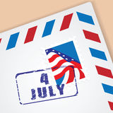 Congratulation Letter of Independence Day Stock Images