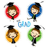 Congratulation New Graduate Cute Cartoon Vector Royalty Free Stock Images